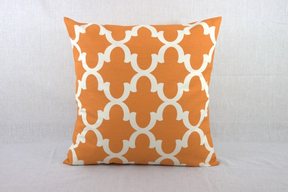 Orange Floor Pillows : Floor Cusion Cover Orange Decorative Sofa Pillows Covers