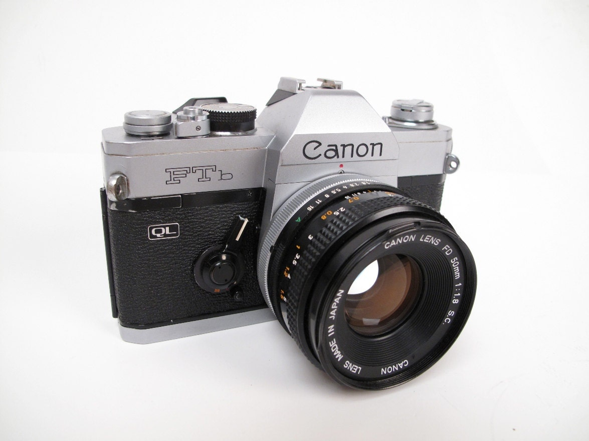 Canon FTb 35mm Camera Student / 50mm 1.8 Lens by ...