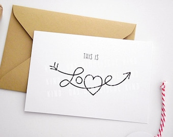 """Greeting card """"this is love"""""""
