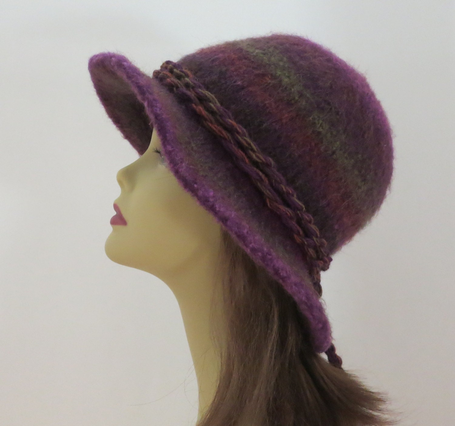 Knit Brim Hat Pattern : Felted Hat Pattern Felted Hat 203 Flat Brim Hat by WomanOnTheWater