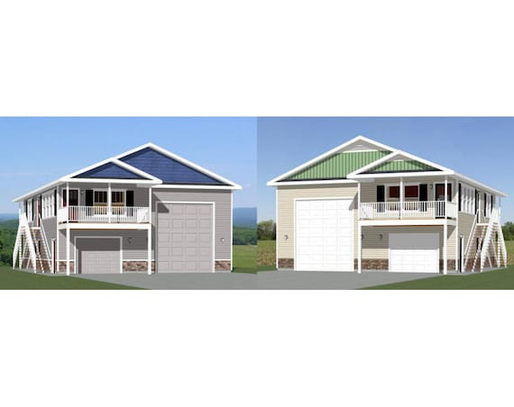 items similar to 36x40 apartments with 1 car 1 rv garages pdf floor