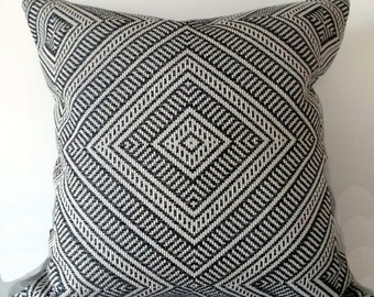 Tortola in Oxford Grey- This Listing is for ONE pillow- FRONT & BACK