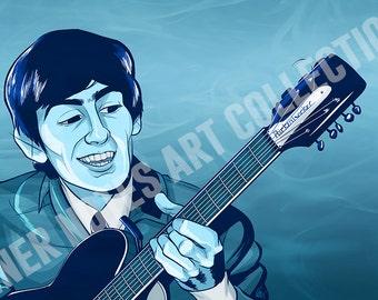 George Harrison 11 x 17 Print
