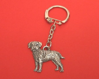 Border Terrier Pewter Motif Key Ring Father Mother Border Terrier Gift