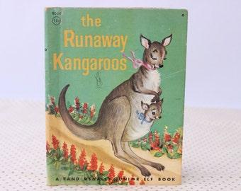 The Runaway Kangaroos, Rand McNally, 1959, Vintage Children's Book, Vintage Picture Book