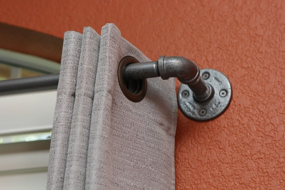 Curtains Ideas 140 inch curtain rod : Industrial Curtain Rods Long industrial chic pipe curtain