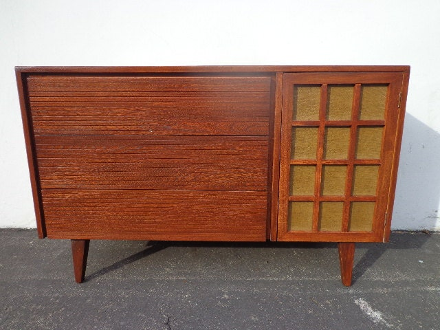 Mid Century Modern TV Media Console Cabinet Buffet by DejaVuDecors