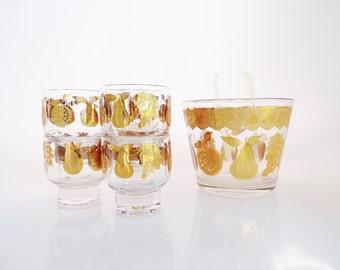 Vintage Culver Barware - Culver Glassware - Culver Glasses - Culver Gold - Mad Men Glasses - Mid Century Glasses - Glassware Set