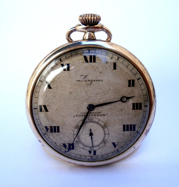 items similar to antique pocket swiss longines