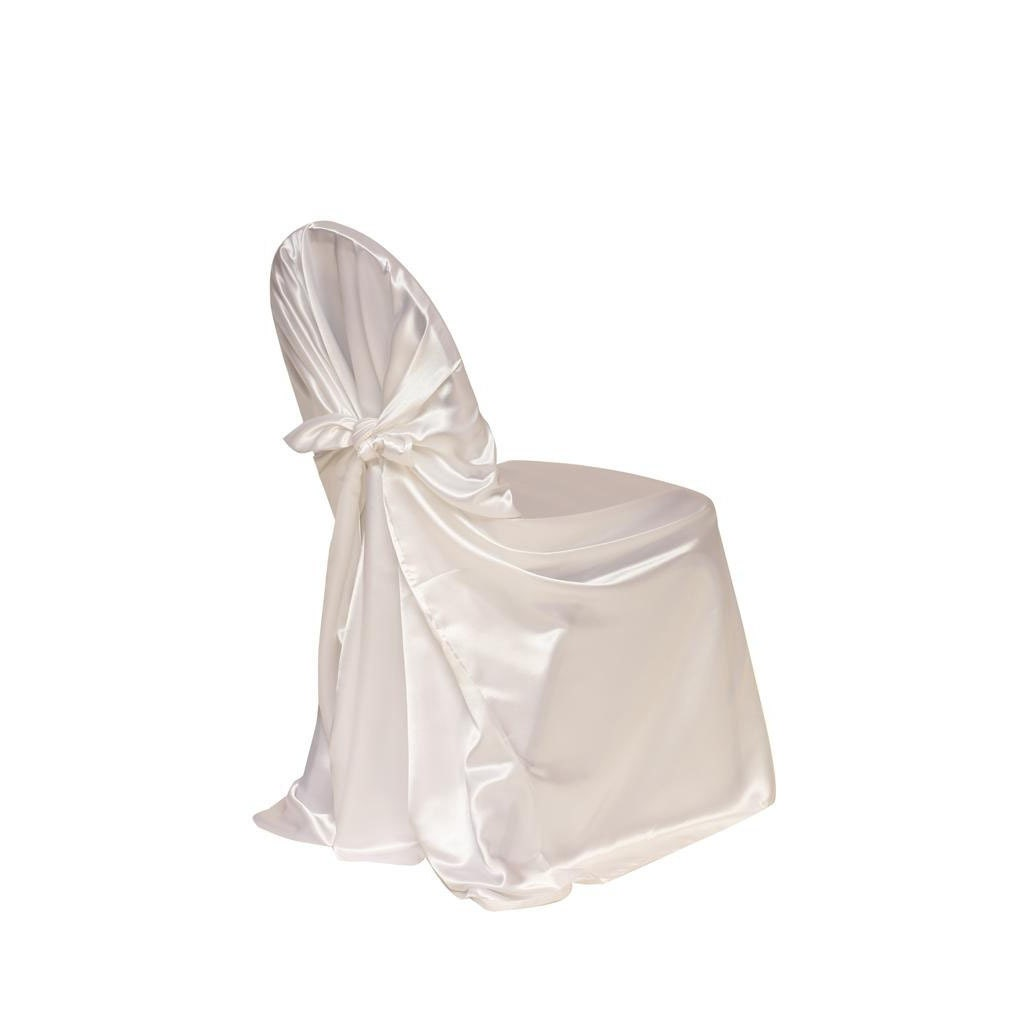 White Satin Universal Chair Cover Wedding Chair Covers