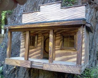Saloon Birdhouse Old Western Theme