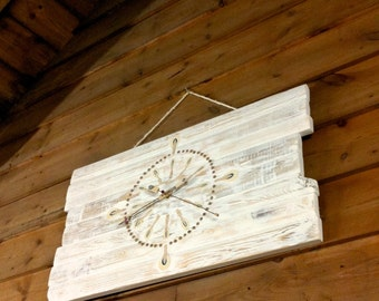 Wall clock, made from piano hammers
