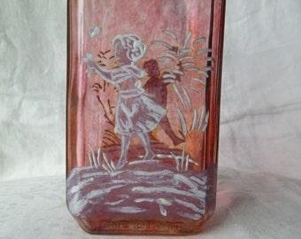 Vintage Hand Painted Manischewitz Wine Bottle