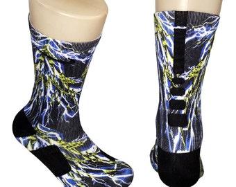 Custom Lightning Bolts Nike Elite Socks