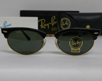 New Vintage B&L Ray Ban Clubmaster Oval Black G-15 W1263 Wayfarer Set Sunglasses usa