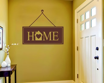 Hanging Home Sign Wall Sticker
