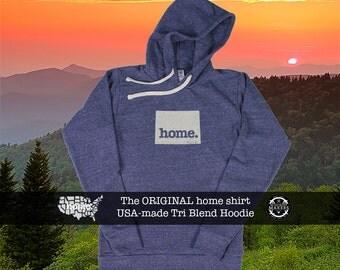 Tri Blend Pull Over Hoodie Wyoming Home Sweatshirt