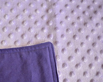 Lavender Blankie with Purple Back