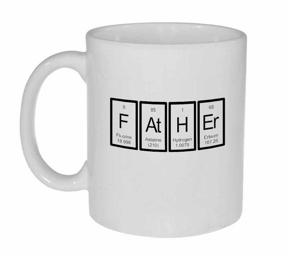 Father- periodic table- white ceramic coffee or tea mug