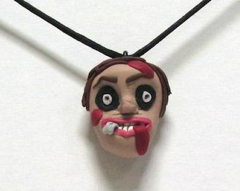 OOAK Handmade Zombie Walking Dead Pendant Necklace 02