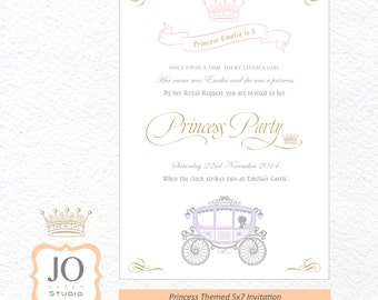 Custom Princess / Princess & the Pony / Invitation for a Princess Party