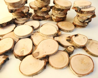 Tags,Birch Wood Slices, Woodworking, DIY, Tags, Tree Slices, Wood Slices, Wood Blanks,Craft Supplie, Set of 15