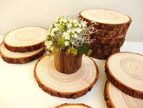 Wood rounds wedding