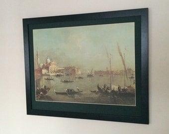 """Framed and Mounted Venice San Giorgio Maggiore Print by Francesco Guardi 20"""" x 16"""" venice italian print poster"""