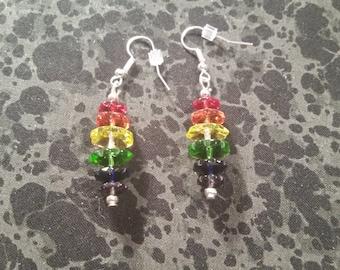 Rainbow Glass Earrings