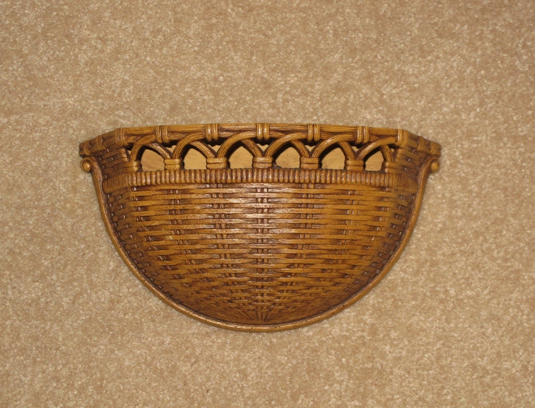 Vintage 1970s Homco Home Interiors And Gifts Faux Wicker