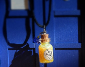 Huon Energy Particles Doctor Who Miniature Bottle Charm Necklace