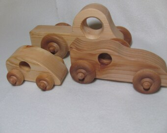 Wooden toy cars and truck an essential collection of classic wooden cars - free shipping