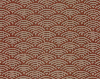 Red Fabric Traditional Wave Japanese Cotton Quilting by the half yard KW-3650-2C