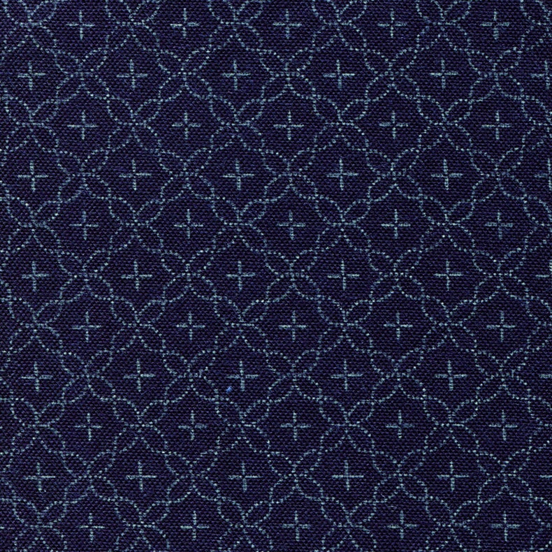 Indigo Fabric Tone on Tone Japanese Cotton Quilting Fabric by