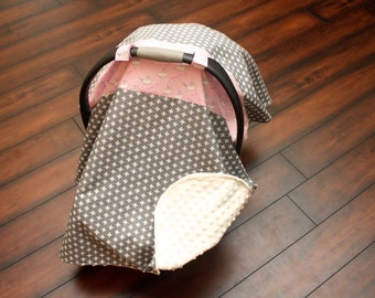 "Infant car seat cover ""Grey Plus Sign"""