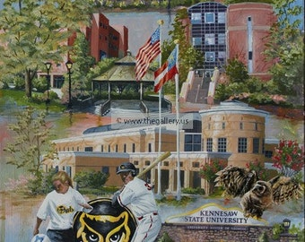 Kennesaw State University print by Anni Moller