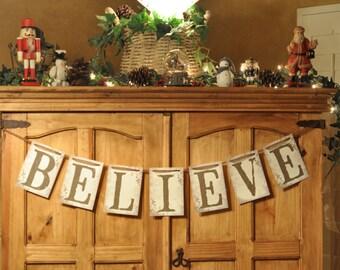 "PRINTABLE FILE: ""BELIEVE"" Banner/Bunting"