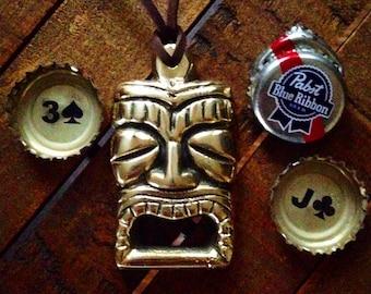 Brass Tiki Pendant