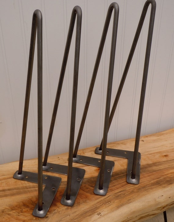 hairpin legs 16 2 rod hairpin legs set of 4 by theoldtimbermill. Black Bedroom Furniture Sets. Home Design Ideas
