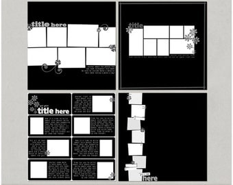 A Photo A Day Project 365 PL 12x12 Digital Scrapbooking Templates