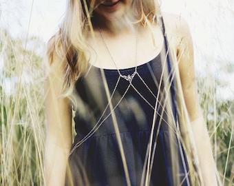 Silver Body Harness, Body Chain