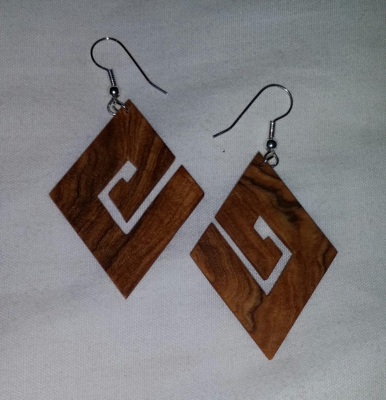 handmade wooden earrings by pierrewoodencreation on etsy