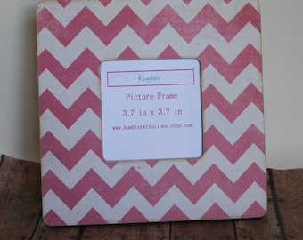 Picture Frame --Pink Chevron