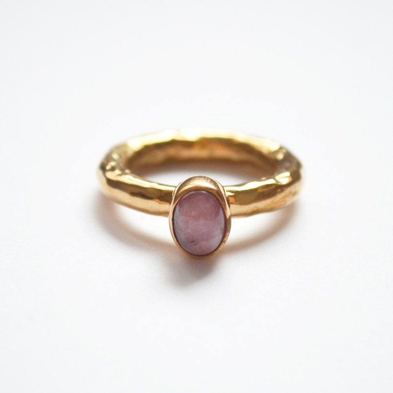 rhodochrosite ring beautiful unique by lissabowiejewellery