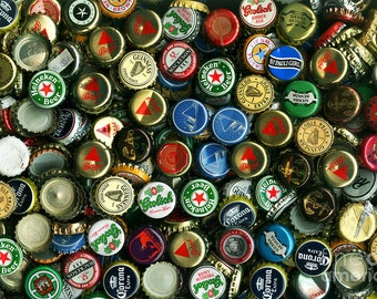 30-Pack, Recycled Bottle Caps for Sale: Beer Caps, Soda Caps, Newer, Tarnished