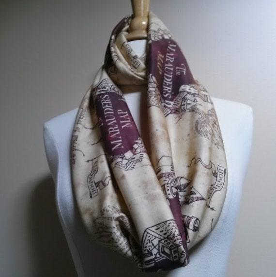 Marauders Map, Infinity Scarf, Harry Potter, Scarf, TootSweetSkirts LOVE Introductory Price!
