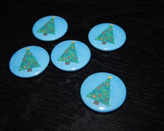 Christmas tree Xmas pinback button badge pin