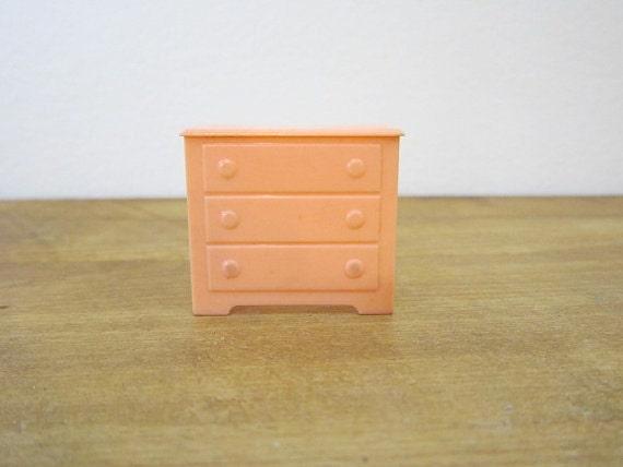 Vintage Marx Plastic Dollhouse Dresser Nursery Furniture