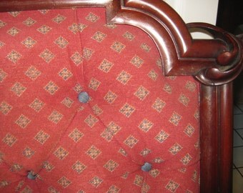 REDUCED, By 300.00.  Victorian, DOWNTON Abbey Era , Headboard that Hangs Above the Bed, or Ceiling,MAHOGANY Frame.
