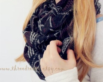 Soft Blanket Infinity Scarf Winter Scarf Soft Infinity Scarf Chunky Scarf Large Scarf Large Scarf Cute Scarf Fashion Accessory Holiday Gift